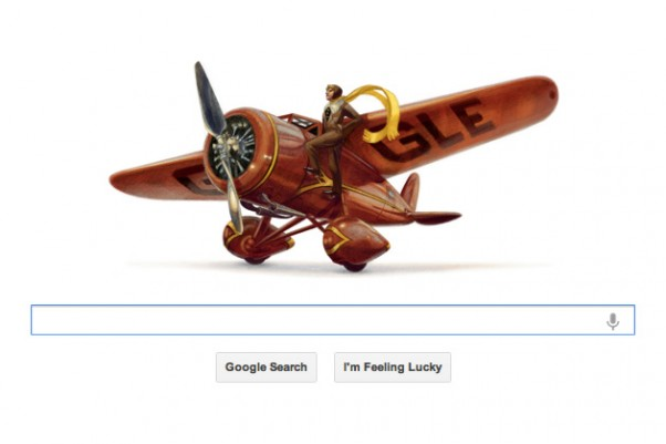 Amelia Earhart Google Doodle