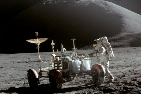 Apollo 15 Lunar Rover. (Photo by NASA)