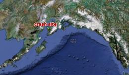 Map of the crash site in Homer, Alaska. (Map by Google/Matt Molnar)