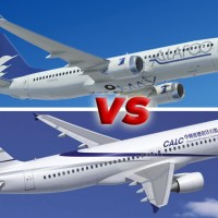 Boeing vs Airbus Farnborough