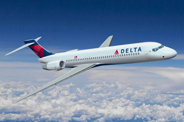 Rendering of a Delta Air Lines Boeing 717. (Image by Delta)