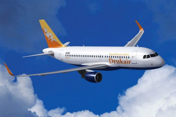 Drukair Airbus A319 with Sharklets. (Image by Airbus/Fixion)