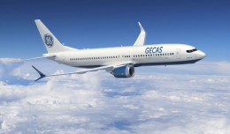 Boeing 737 MAX 8 wearing GECAS livery. (Image by Boeing)