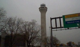 Newark Liberty International Airport control tower.