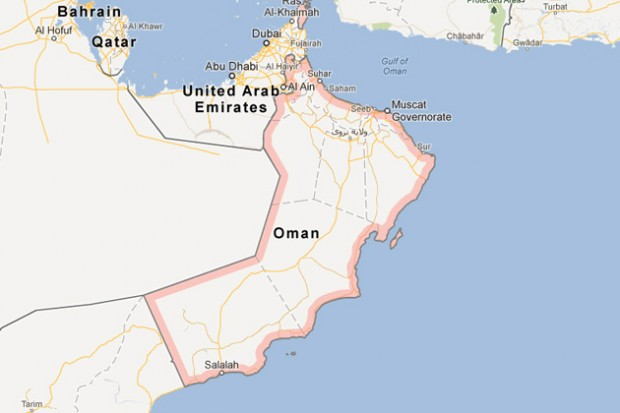 Two us sailors missing in oman helicopter crash declared deadnycaviation map of oman map by google gumiabroncs Gallery