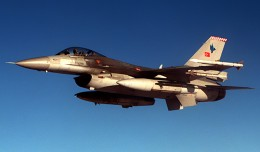 Turkish Air Force General Dynamics F-16 jet.