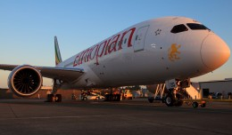 Ethiopian&#039;s first 787 Dreamliner. (Photo by Jeremy Dwyer-Lindgren/NYCAviation)