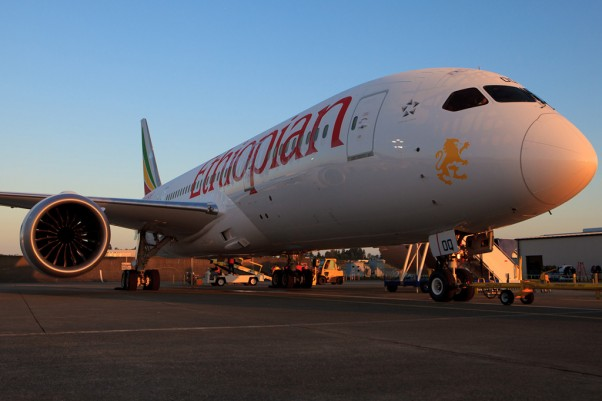 Ethiopian's first 787 Dreamliner. (Photo by Jeremy Dwyer-Lindgren/NYCAviation)