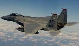 A McDonnell Douglas F-15C-35-MC Eagle out of the 71st Fighter Squadron, 1st Fighter Wing, at Langley Air Force Base, Va., flies over Washington D.C. (Photo by U.S. Air Force/Staff Sgt. Samuel Rogers)