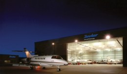Hawker Aircraft Services at Little Rock Airport. (Photo by Hawker Beechcraft)
