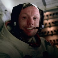 Neil Armstrong aboard the Apollo 11 spacecraft following the first ever moonwalk. (Photo by Buzz Aldrin/NASA)