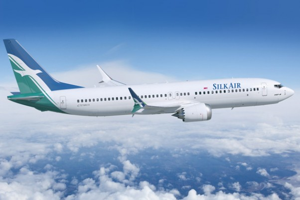 SilkAir Boeing 737 MAX 8. (Rendering by Boeing)