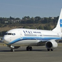 A Xiamen Airlines Boeing 737-800 (B-5305) seen at Boeing Field prior to delivery. (Photo by Boeing)