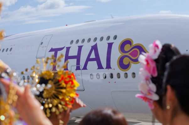 Thai Airways first Airbus A380. (Photo by Airbus)