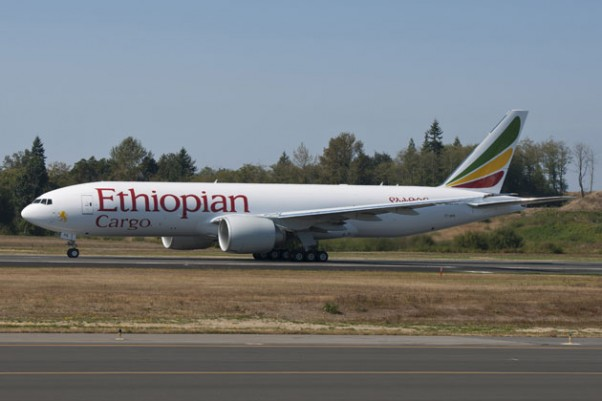ET-APS, the first Boeing 777 Freighter for Ethiopian Airlines. (Photo by Boeing)
