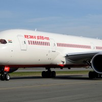 Air India's first Boeing 787-8 Dreamliner, VT-ANH, seen in March 2012. (Photo by Andrew W. Sieber via Flickr, CC BY-NC)