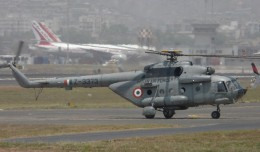 Indian Air Force Mil Mi-17-IV helicopter seen at Mumbai in 2008. (Photo by Sean D'Silva, via Wikimedia Commons)