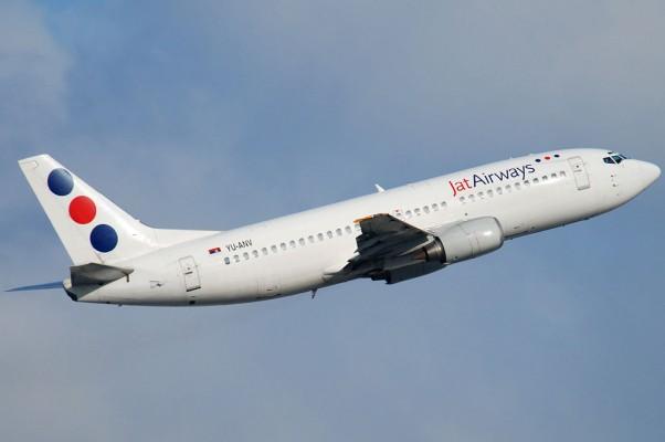 A Jat Airways Boeing 737-300 (YU-ANV) seen in Zurich. (Photo by Gordon Gebert)