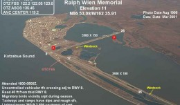 Closer to Siberia than to Anchorage, Alaska's tiny Ralph Wien Memorial Airport received a $15 million grant for runway improvements. (Image by FAA)