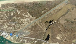 New York's easternmost airport, Montauk could be shuttered in favor of housing. (Photo by Bing)