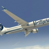 Rendering of an Alaska Airlines Boeing 737 MAX 8. (Image by Boeing)