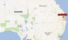 The vintage de Havilland DH.84 Dragon crashed northwest of Brisbane. (Map by NYCAviation/Google Maps)