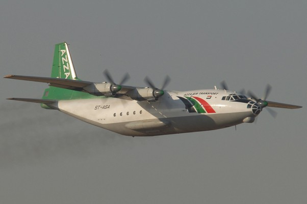 An Azza Air Transport Antonov An-12B similar to the accident aircraft. (Photo by Melting Tarmac Images via wikipedia commons)