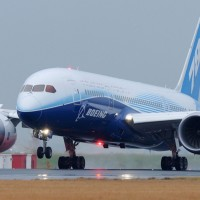 A Boeing 787 Dreamliner lands in Sydney during the plane's Dream Tour. (Photo by Boeing)