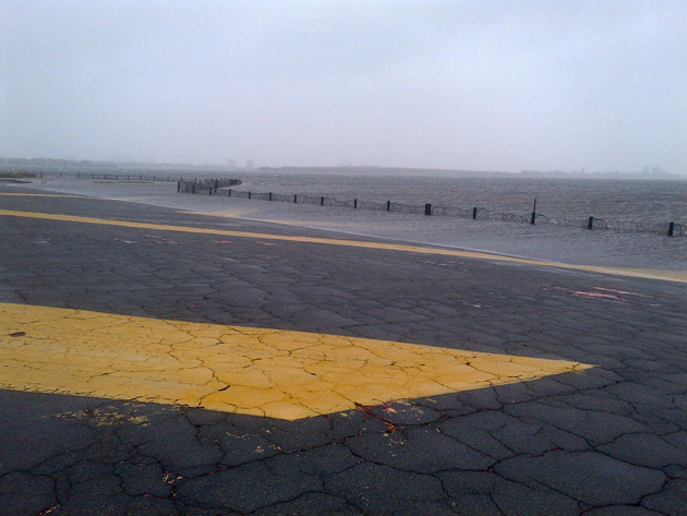 Rising water at JFK Airport Monday morning. (Photo by Port Authority)