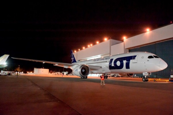 LOT Polish Airlines first Boeing 787-8 Dreamliner. (Photo by Boeing)