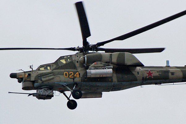 Russian Mil Mi-28 demo flight at MAKS 2007. (Photo by Россин Денис Владимирович via Wikipedia)
