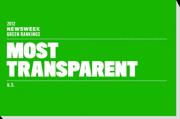 Newsweek Most Transparent list.