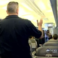 Nightline follows a mock police raid at Miami International Airport. (Screenshot)
