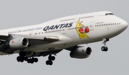 Qantas Boxing Kangaroo Boeing 747-400. (Photo by Jason Rabinowitz)