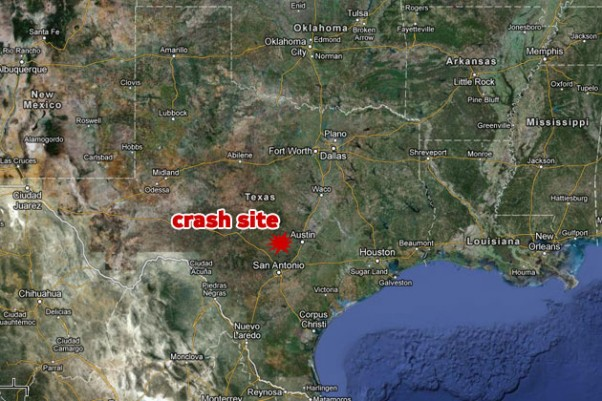 Site of a helicopter crash north of San Antonio, Texas. (Map by NYCAviation/Google Maps)