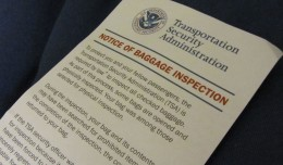 TSA baggage inspection notice. (Photo by lynn.gardner via Flickr, CC-BY-NC-SA)