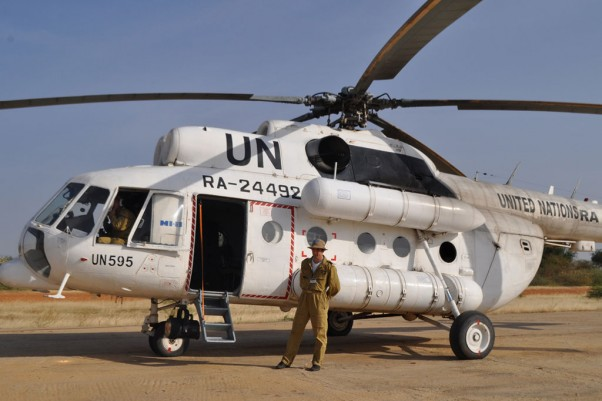 A United Nations Mil Mi-8 helicopter (RA-24492). (Photo by Sudan Envoy via wikimedia, CC-BY)