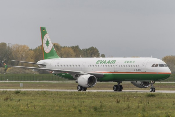 EVA Air takes delivery of its first Airbus A321. (Photo by Airbus)