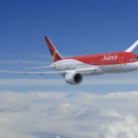 Avianca Boeing 787 Dreamliner in flight. (Rendering by Boeing)