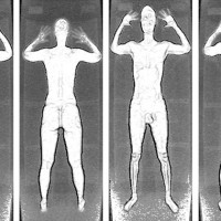Filtered images from a backscatter body scanner. (Photo by TSA)