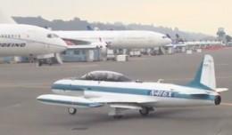Boeing owned Candadair T-33 (N416X).