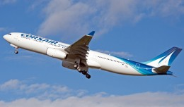 Corsair&#039;s first Airbus A330-300 (F-HSKY). (Photo by P. Pigeyre/Airbus)