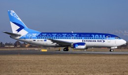 "An Estonian Air Boing 737-300 (ES-ABJ) seen at Copenhagen wearing a special ""Tallinn European Capital of Culture 2011"" livery. (Photo by Eduard Heisterkamp via Wikipedia)"