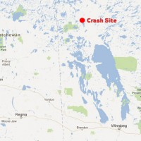 The Cessna 208 went down nearly 430 miles north of Winnipeg. (Map by NYCAviation/Google Maps)