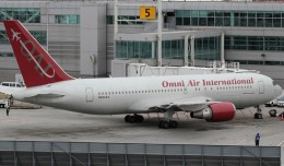 An Omni Air International Boeing 767-200ER (N234AX) at JFK Terminal 4. (Photo by Kaz T.)