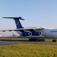 This is Syria's only operational Ilyushin Il-76 transport aircraft (YK-ATA), seen here at Paris-Le Bourget Airport in 2009. It may have been used to transport Mil Mi-25 attack helicopters to Syria from Russia through Iraqi airspace. (Photo by twin-otter64 via Flickr, CC-BY-NC-SA)