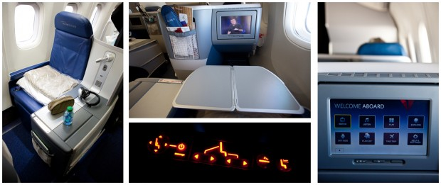Delta 767-300 BusinessElite seats. (Photos by Jeremy Dwyer-Lindgren/NYCAviation)