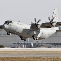 An Iraqi Air Force Lockheed Martin C-130J Super Hercules takes off. (Photo by Lockheed Martin)