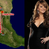 The Learjet 25 carrying Jenni Rivera was enroute from MTY to TLC, about 1 hour flight time. (Map by NYCAviation/GCMap.com. Photo by Jenni Rivera via wikipedia)