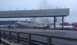 Crashed Red Wings Airlines Tupolev Tu-204 at Moscow Vnukovo Airport.